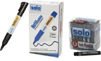 Solo Bullet Tip Liquid Ink Technology White Board Marker (Set Of 2, Black)
