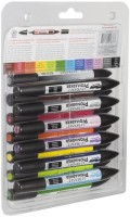 Letraset ProMarker Dual Tip Nib Sketch Pens  With Washable Ink (Set Of 13, Assorted)