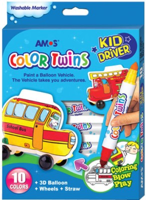 Buy Amos Conical Tip Washable Coloring Marker: Marker Highlighter