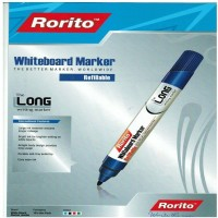RORITO DURABLE ANTI-FRAY BULLET TIP WORD WIDE WHITE BOARD MARKER PACK OF 120 PCS (Set Of 120, BLUE ,BLACK,RED,GREEN)