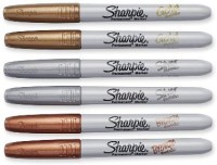 Sharpie Metallic Fine Point Permanent Marker Highlighter (Set Of 6, Assorted Colors)