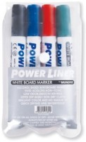 Mungyo Round Tip Alchohol Based White Board Markers Power Liner (Set Of 4, Assorted)