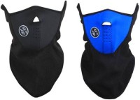 Bike World Blue & Black Bike Half Face Mask For Dust/Sun/Heat/Cold Protection Balaclava (Black, Blue, Pack Of 2)