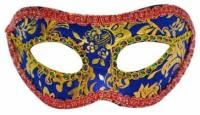 Smartcraft Velvet Eye -Blue Party Mask (Multicolor, Pack Of 1)