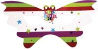 Birthdays & Parties Birthday Bash White Theme Eye Mask Party Mask (White, Pack Of 10)
