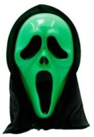 Smartcraft Scream -Green Party Mask (Multicolor, Pack Of 1)