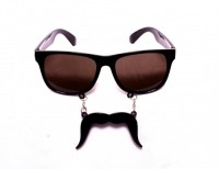 Funcart Blackes With Moustaches Party Mask (Black, Pack Of 1)