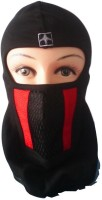 D3 Face Mask Full With Red And Black Lines Riders Anti-pollution Mask (Black, Pack Of 1)