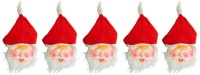 Priyankish Santa Claus With Red Cap Combo Party Mask (Red, White, Pack Of 10)