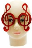 Smartcraft Musical Note Glasses-Red Party Mask (Multicolor, Pack Of 5)