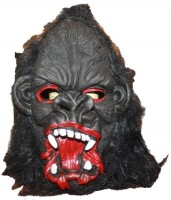 Authority Halloween Ghost Party Mask (Black, Pack Of 1)