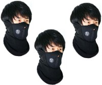 Sangaitap 3 Piece Face Balaclava For Riding Bike Dust/Sun/Heat/Cold Protection Anti-pollution Mask (Black, Pack Of 3)