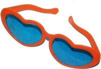 Satyam Kraft Heart_dark_orange Party Mask (Orange, Pack Of 6)