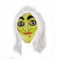 Tootpado Realistic Latex Rubber Adult Size - Witch 1a202 - Horror Halloween Ghost Scary Full Face Cosplay Costumes Supplies Creepy Zombie Party Mask (Multicolor, Pack Of 1)