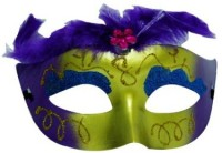 Smartcraft Showgirl Eye -Purple Party Mask (Multicolor, Pack Of 1)