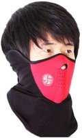 Sangaitap Red Bike Face Balaclava For Dust/Sun/Heat/Cold Protection Anti-pollution Mask (Red, Pack Of 1)