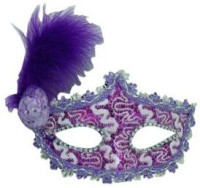 Smartcraft Eye With Small Hat-Purple Party Mask (Multicolor, Pack Of 1)