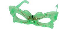 Satyam Kraft Green_butterfly_light Party Mask (Green, Pack Of 6)