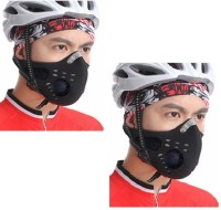 Sangaitap Combo Offer Of 2 Pcs Of Face Nose Ear Neck Bike Motorcycle Riders Dust/Sun/Heat/Cold Protection Anti-pollution Mask (Black, Pack Of 2)