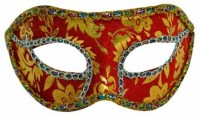 Smartcraft Velvet Eye -Red Party Mask (Multicolor, Pack Of 1)