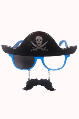 Atpata Funky Pirate Mustache Blue