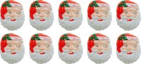 Priyankish Santa Claus Combo Party Mask (Red, White, Pack Of 10)