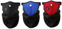 Sangaitap Combo Blue Black Red Bike Face Balaclava For Bikers Dust/Sun/Heat/Cold Protection Anti-pollution Mask (Black, Pack Of 3)