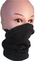 D3 Face Mask Buenos 12+ Ash Black Multipurpose Mask, Beanie Cap, Full Mask, Wrist Band, Half Mask, Bandana, Helmet Liner, Prirate Etc... Anti-pollution Mask (Black, Pack Of 1)