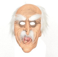 Tootpado Realistic Latex Rubber Adult Size - Old Man 1a224 - Horror Halloween Ghost Scary Full Face Cosplay Costumes Supplies Creepy Zombie Party Mask (Multicolor, Pack Of 1)
