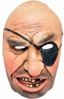 Tootpado Realistic Latex Rubber Adult Size Face - Pirate 1a183 - Horror Halloween Ghost Scary Full Face Cosplay Costumes Supplies Creepy Zombie Party Mask (Multicolor, Pack Of 1)