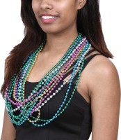 Madcaps The Party Shop Bead Necklace Party Mask (Multicolor, Pack Of 12)