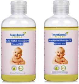 Healthbuddy Herbal Baby Massage Oil 2 Packs of 200 ml Each
