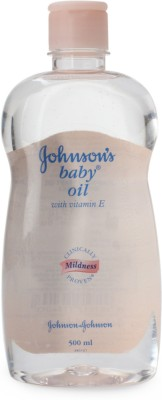 Johnsons Baby Oil With Vitamin E - 500 Ml