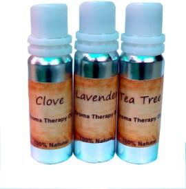 Shagun Gold Essential Aroma Therapy Oil (Clove, Lavender & Tree Tree 15 Ml. Each)