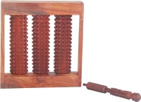 Montstar MG-165 Wooden Foot Roller 3 Slot With Jimmy Massager (Brown)