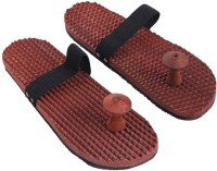 Craft Art India AA-CAI-HD-0022-A Handmade Wooden Relaxing Acupressure Slippers / Chappals For Good Health Massager (NA)
