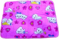 Blossoms Plastic, Cotton Medium Sleeping Mat White Puppy Baby Sheets (Multicolour)