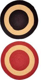 JARS Collections Polyester Medium Door Mat Jars Collections Set Of 2 Round Doormat