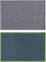 Status Nylon Medium Door Mat Solid_grey_green_2pcs (Grey, 2 Mat)