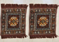JBG Home Store Polyester Medium Prayer Mat JBG Home Store Set Of 2 Attractive Pooja Aasan (Brown, 2 Pooja Aasan)
