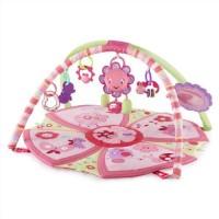 Bright Starts Cotton Medium Play Mat Giggle Garden Activity Gym (Pretty In Pink)