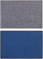 Status Nylon Medium Door Mat Solid_grey_blue_2pcs (Grey, 2 Mat)