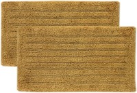 Tiskal Cotton Medium Bath Mat TK-BM-FRANK_Beige-2 Beige, 2 Bath Mat