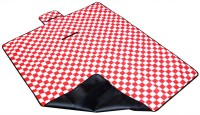 7Trees Cotton, PVC Large Camping Mat Foldable Dampproof Beach & Picnic / Chatai - Pattern: Red & White Checks (Red, White, 1 Picnic Mat)