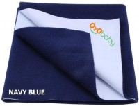 Oyo Baby Cotton Medium Changing Mat Baby Care Sheet (Dark Blue, 1 Mat)