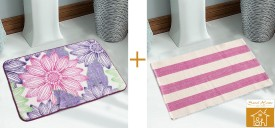 Saral Home Cotton Medium Floor Mat Combo of 2pcs Set of Premium Quality Multi Use Mat and Rugs