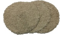 Tiskal Cotton Medium Bath Mat Karisma Round-Light Beige-3 Beige