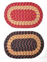 JBG Home Store Polyester Medium Door Mat JBG Home Store Set Of 2 Multicolored Round Doormat (Multicolor, 2 Mats)