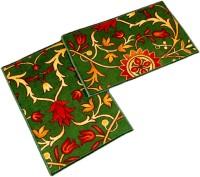 Ritika Carpets Velvet Medium Door Mat Door Mat Set Of 2 Green, 2 Mat - MATEBVP8TH5HUR7G