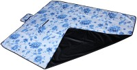 7Trees Cotton, PVC Large Camping Mat Foldable Dampproof Beach & Picnic Mat / Chatai - Pattern: Blue Leaf (Dark Blue, 1 Picnic Mat)